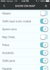 Waze Display Settings