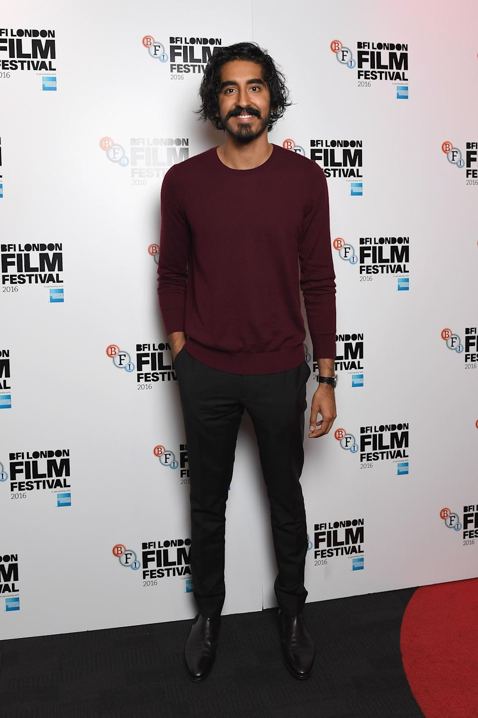 Patel at the 60th BFI London Film Festival at Picturehouse Central in London on Oct. 12, 2016.