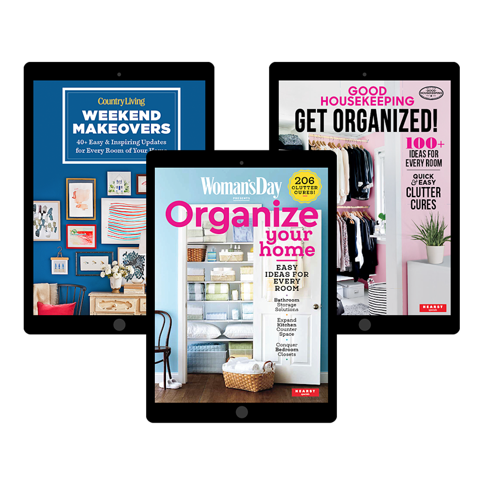 """<p>Discover brilliant ways to get organized, declutter, and make over any room. These downloadable digital guides make it easier than ever to give your home a refresh. Visit our store to find dozens of ideas from <em>Woman's Day</em> and our sister brands.</p><p><a class=""""link rapid-noclick-resp"""" href=""""https://shop.womansday.com/home.html?source=_ed_WDY_SpringRefresh_7_"""" rel=""""nofollow noopener"""" target=""""_blank"""" data-ylk=""""slk:SHOP NOW"""">SHOP NOW</a></p>"""
