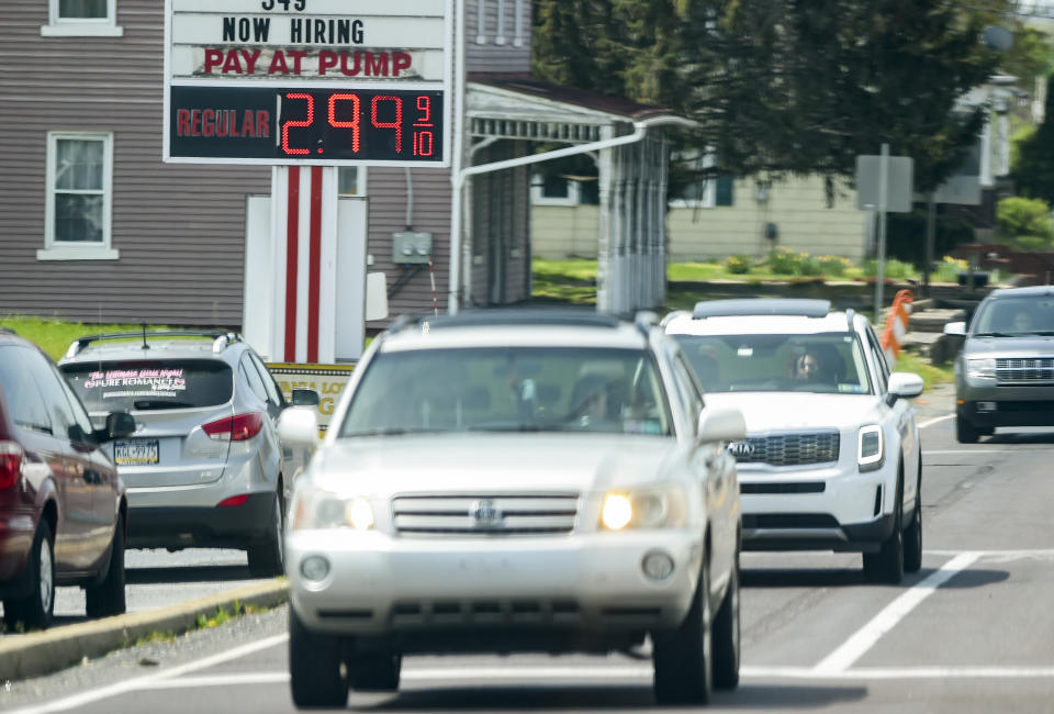 Blandon, PA - April 27: The price for gas at the Redners Quick Shoppe gas station on 222 at the intersection with 73 in Blandon Tuesday afternoon April 27, 2021. (Photo by Ben Hasty/MediaNews Group/Reading Eagle via Getty Images)