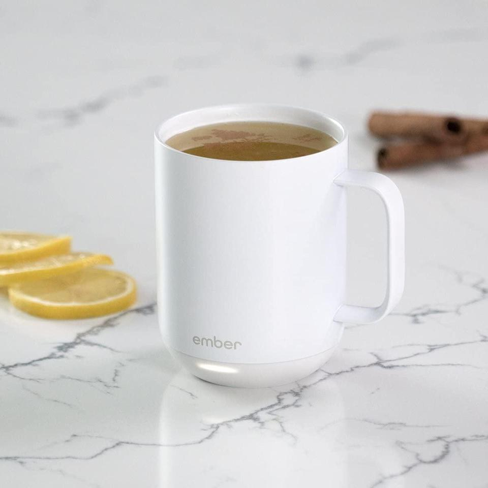 <p>Keep your coffee or tea hot all day long with this <span>Ember Temperature Control Smart Mug</span> ($100).</p>