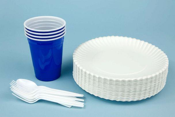 PHOTO: Disposable plates and cups are seen in this stock photo. (STOCK/Getty Images)