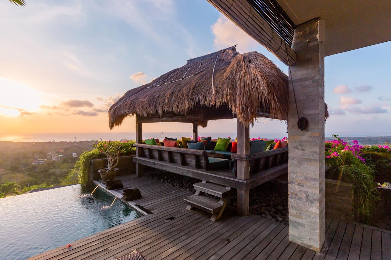 <p>The girls are staying at the ultra luxurious Hidden Hills Villas in Uluwatu. Photo: Supplied </p>