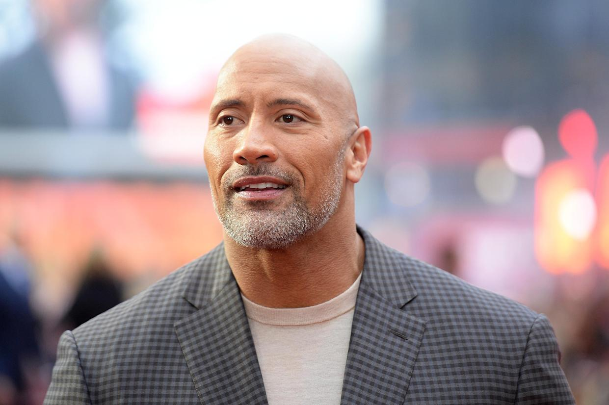 "Dwayne Johnson attends the European Premiere of ""Rampage"" at Cineworld Leicester Square in London in April. (Photo: Dave J Hogan/Dave J Hogan/Getty Images)"