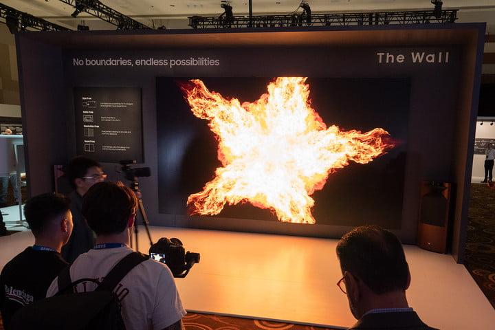 samsung 219 inch micro led tv ces 2019 2