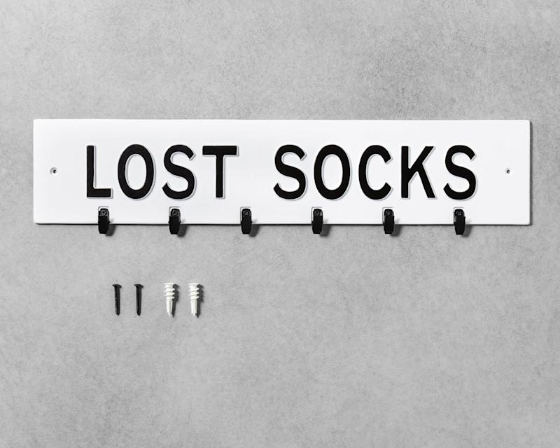 White lost socks sign