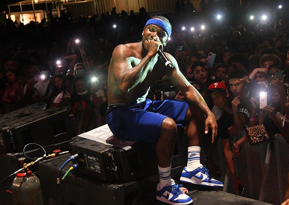File image: DaBaby performs during DaBaby + Friends Concert on 17 April 2021 (Getty Images for Interscope)