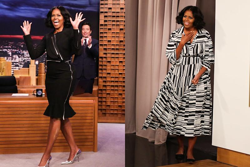 Michelle Obama Wears Multiple Dresses For Her Final Tonight Show