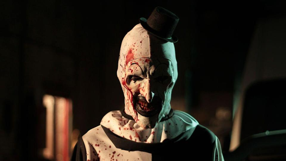 """<p>The name (and this monster's photo) really says it all, doesn't it? On Halloween, everyone must look out for evil, homicidal Art the Clown during his reign of terror. </p><p><a class=""""link rapid-noclick-resp"""" href=""""https://www.netflix.com/title/81004223"""" rel=""""nofollow noopener"""" target=""""_blank"""" data-ylk=""""slk:STREAM NOW"""">STREAM NOW</a></p>"""