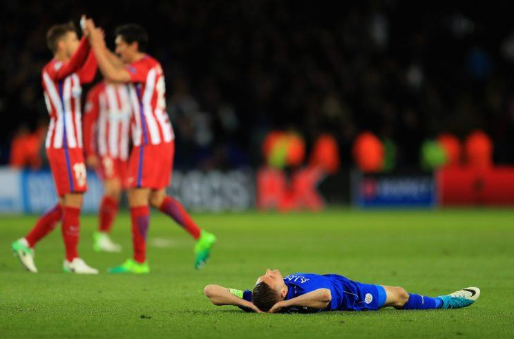 Leicester players were visibly upset at the end of the match