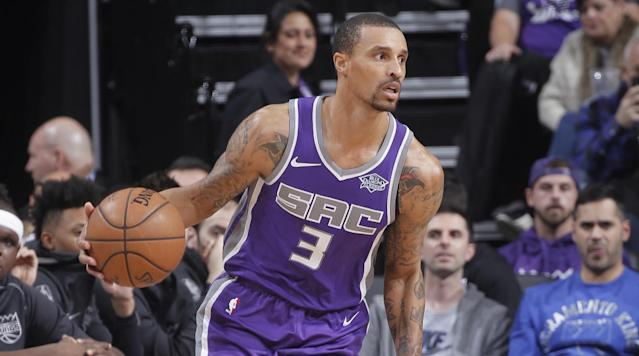"""<p>The Cavaliers are interested in acquiring veteran point guard George Hill from the Kings, <a href=""""https://sports.yahoo.com/sources-cavs-expressing-interest-deal-kings-guard-george-hill-212652384.html"""" data-ylk=""""slk:Yahoo's Shams Charania reports"""" class=""""link rapid-noclick-resp"""">Yahoo's Shams Charania reports</a>. </p><p>Sacramento is willing to trade Hill because they plan to let rookie De'Aaron Fox take over the starting point guard duties in the second half of the season, according to the report. Though he has primarily been a point guard, the Cavs may want to play Hill at 2-guard while Isaiah Thomas and LeBron James continue to be the primary ballhandlers, Charania adds. </p><p>The backcourt has been a weak point for the Cavs this season, who were without Isaiah Thomas for the first three months of the season. Derrick Rose played Thursday for the first time since Nov. 7 and Iman Shumpert has been out since mid-November with a knee injury. That leaves Jose Calderon and Dwyane Wade as the top backcourt options off the bench. </p><p>The Cavs are 27–17, in third place in the Eastern Conference, and LeBron said this week that this season <a href=""""http://www.espn.com/nba/story/_/id/22135271/cleveland-cavaliers-star-lebron-james-says-season-harder-rest"""" rel=""""nofollow noopener"""" target=""""_blank"""" data-ylk=""""slk:has been """"even more challenging"""" that previous ones"""" class=""""link rapid-noclick-resp"""">has been """"even more challenging"""" that previous ones</a>. </p><p>The NBA trade deadline is Feb. 8 at 3 p.m. ET. </p>"""