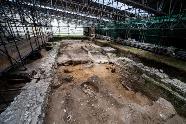 The archaeological dig site
