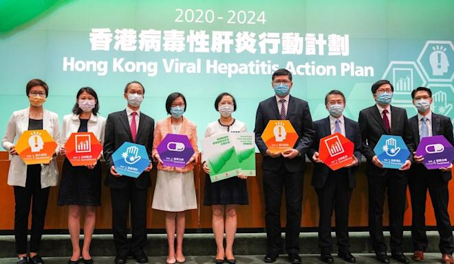 Health officials and medical experts announce the launch of the programme on Thursday. Photo: Sam Tsang
