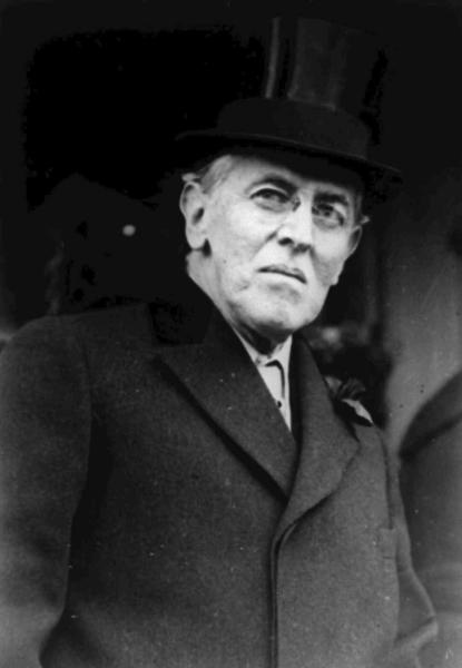 FILE - This 1924 file photo shows Woodrow Wilson. Wilson was more focused on the end of World War I than a flu virus that was making its way around the globe, ultimately sickening hundreds of thousands of Americans, including him. (AP Photo, File)