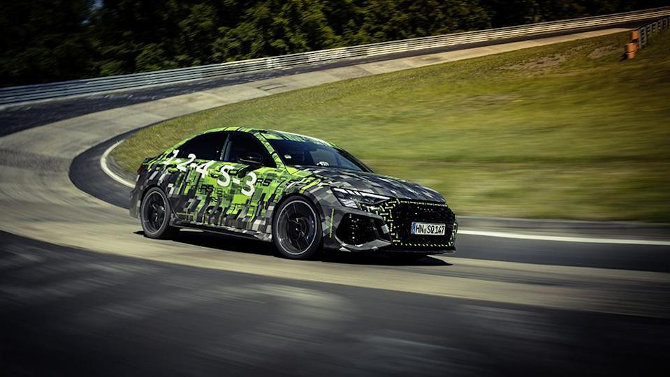 This RS3 is now officially the fastest compact car to grace Nürburgring. - Credit: Audi