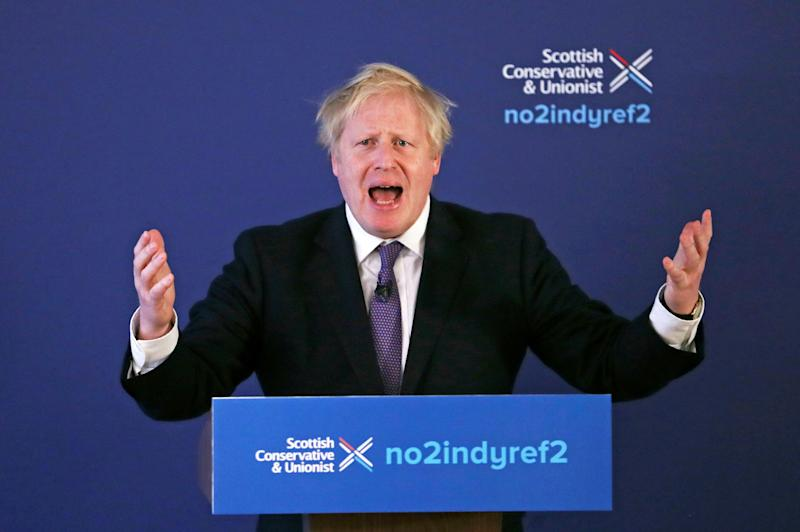 Boris Johnson pictured last month. (Photo: ASSOCIATED PRESS)
