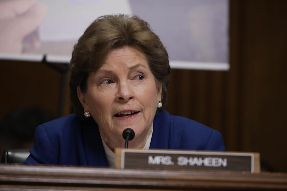 WASHINGTON - UNITED STATES - MARCH 11: Senator Jeanne Shaheen, a Democrat from New Hampshire, listens to testimony during a hearing about