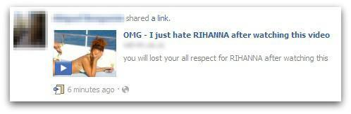 Rihanna scam screenshot