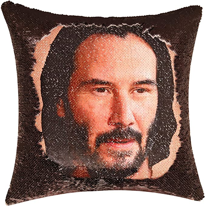 "<h3><a href=""https://amzn.to/2OZUMFn"" rel=""nofollow noopener"" target=""_blank"" data-ylk=""slk:Keanu Reeves Reversible Sequin Pillowcase"" class=""link rapid-noclick-resp"">Keanu Reeves Reversible Sequin Pillowcase</a> </h3><br>Keanu Reeves, but make it #fashun. <br><br><strong>Merrycolor</strong> Keanu Reeves Reversible Sequin Pillowcase, $, available at <a href=""https://amzn.to/2OZUMFn"" rel=""nofollow noopener"" target=""_blank"" data-ylk=""slk:Amazon"" class=""link rapid-noclick-resp"">Amazon</a>"