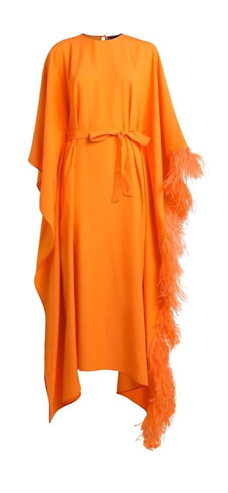 """<p>Make an entrance in this statement one-piece by the Arabic brand Taller Marmo. Accessorise with chunky gold jewellery. </p><p>Dress, £550.71, Taller Marmo at Harrods</p><p><a class=""""body-btn-link"""" href=""""https://go.redirectingat.com?id=127X1599956&url=https%3A%2F%2Fwww.harrods.com%2Fen-gb%2Fshopping%2Ftaller-marmo-flame-robin-kaftan-dress-15098458&sref=https%3A%2F%2Fwww.townandcountrymag.com%2Fuk%2Fstyle%2Ffashion%2Fg32905856%2Fwhat-to-wear-at-home-festival%2F"""" target=""""_blank"""">SHOP NOW</a></p>"""