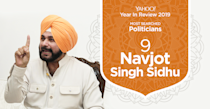 Navjot Singh Sidhu hardly contributed to India's political landscape in 2019 but made waves for his much-publicised friendship with the Pakistan prime minister Imran Khan and for his bear hug with Pakistan's army chief Qamar Javed Bajwa during a visit to the neighbouring country.