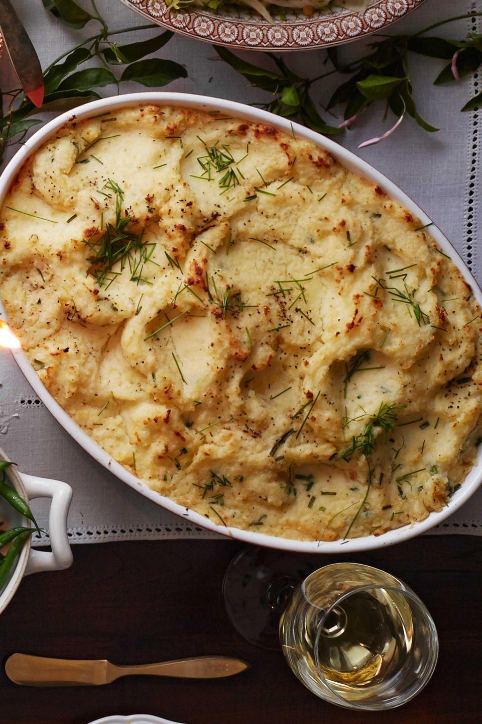 "<p>Ditch the boxed potatoes this year and make this luxurious take on mashed potatoes with full-flavor Boursin cheese.</p><p><strong><a href=""https://www.countryliving.com/food-drinks/recipes/a5916/buttermilk-boursin-potatoes-recipe-clx1114/"" rel=""nofollow noopener"" target=""_blank"" data-ylk=""slk:Get the recipe"" class=""link rapid-noclick-resp"">Get the recipe</a>.</strong></p>"