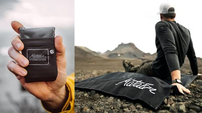 Get cold easily? Pack this pocket-sized blanket in your duffle.
