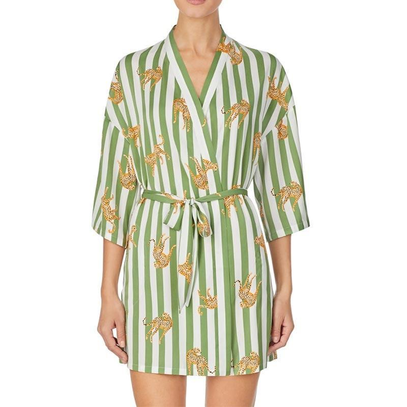 "We're all for gifting robes this year since it's an easy way to make someone feel special (and they probably have enough <a href=""https://www.glamour.com/gallery/best-pajamas-loungewear-shopping?mbid=synd_yahoo_rss"" rel=""nofollow noopener"" target=""_blank"" data-ylk=""slk:pajama sets"" class=""link rapid-noclick-resp"">pajama sets</a> at this point in time). $58, Nordstrom. <a href=""https://www.nordstrom.com/s/room-service-jaguar-stripe-robe/5599108"" rel=""nofollow noopener"" target=""_blank"" data-ylk=""slk:Get it now!"" class=""link rapid-noclick-resp"">Get it now!</a>"