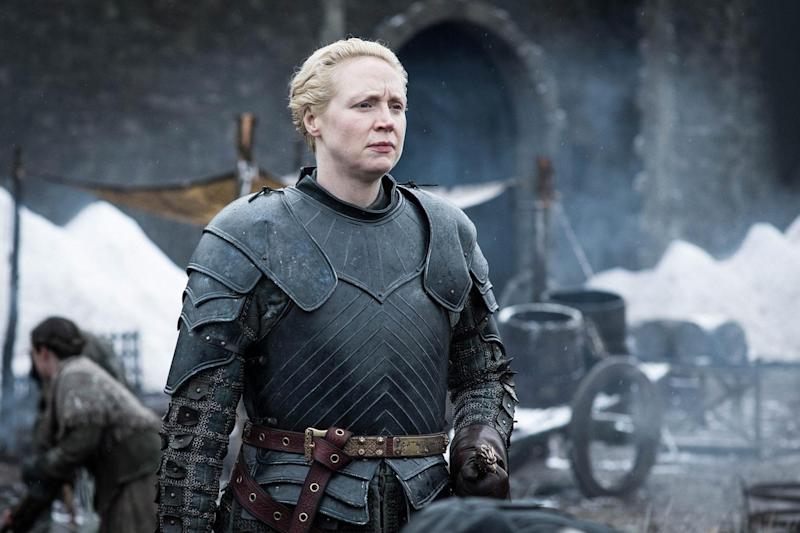 Brienne of Tarth, the first woman in Game of Thrones to be made a knight (HBO/Helen Sloan)
