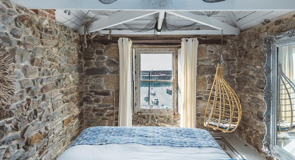 A view of Mousehole Harbour from the bedroom window of Harbour Moon (Nick Isden)