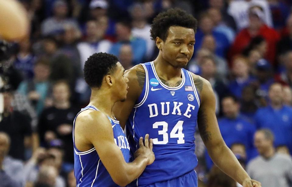 Wendell Carter Jr.'s reduced role at Duke didn't appear to hurt his draft stock. (Getty)