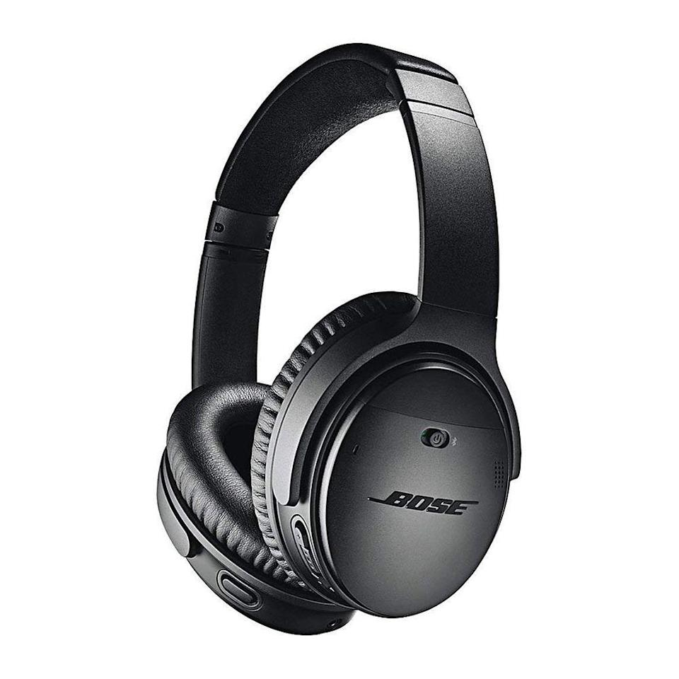 "<p><strong>Bose</strong></p><p>amazon.com</p><p><strong>$299.00</strong></p><p><a href=""https://www.amazon.com/dp/B0756CYWWD?tag=syn-yahoo-20&ascsubtag=%5Bartid%7C2089.g.1545%5Bsrc%7Cyahoo-us"" rel=""nofollow noopener"" target=""_blank"" data-ylk=""slk:Shop Now"" class=""link rapid-noclick-resp"">Shop Now</a></p><p>The Bose QuietComfort 35 Series 2 wireless cans will remain an industry benchmark even after the arrival of the Bose Noise Cancelling Headphones 700. They have become more affordable, too!</p><p>The headphones also offer a superb fit, sleek design, up to 20 hours of battery life, superb noise cancellation, and a finely tuned sound signature that makes them suitable for any type of content. The headset allows you to summon Amazon Alexa or the Google Assistant via a dedicated button. The latter also allows you to control the noise-canceling level. You can choose its functionality via a mobile app.</p><p>Reviewers from <a href=""https://www.cnet.com/reviews/bose-quietcomfort-35-ii-review/"" rel=""nofollow noopener"" target=""_blank"" data-ylk=""slk:CNET"" class=""link rapid-noclick-resp"">CNET</a> and <a href=""https://www.tomsguide.com/us/bose-quietcomfort-35-ii,review-4850.html"" rel=""nofollow noopener"" target=""_blank"" data-ylk=""slk:Tom's Guide"" class=""link rapid-noclick-resp"">Tom's Guide</a> gave the QuietComfort 35 wireless headphones high marks for their noise-canceling tech, top-notch sound, and excellent ergonomics. They also noted the headset's considerable price tag.<br></p><p><strong>More: </strong><a href=""https://www.bestproducts.com/tech/gadgets/news/a328/bose-quiet-comfort-noise-canceling-headphones/"" rel=""nofollow noopener"" target=""_blank"" data-ylk=""slk:Our Review of the Bose QuietComfort 35"" class=""link rapid-noclick-resp"">Our Review of the Bose QuietComfort 35</a></p>"