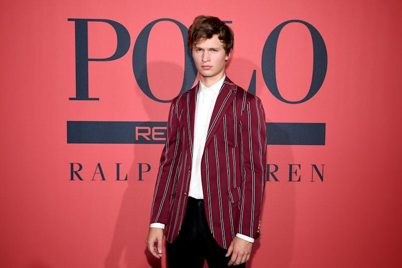 Ansel Elgort attends the Polo Red Rush Launch Party at Classic Car Club Manhattan on July 25, 2018, in New York City.