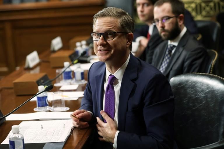 Jay Sullivan, Facebook's product management director for privacy and integrity, defended the social network's use of strong encryption at a Senate hearing (AFP Photo/ALEX WONG)