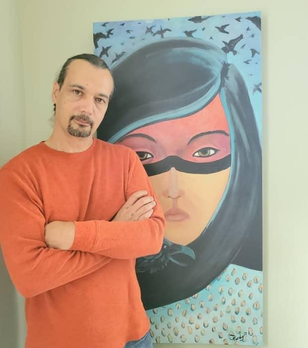 Artist Peter Purdy runs a local Facebook group that helps connects young and emerging artists in Ottawa. (Submitted by Peter Purdy - image credit)