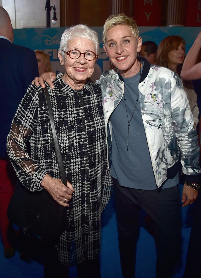 Ellen DeGeneres with her mother, Betty DeGeneres, in 2016. (Photo: Alberto E. Rodriguez/Getty Images for Disney)