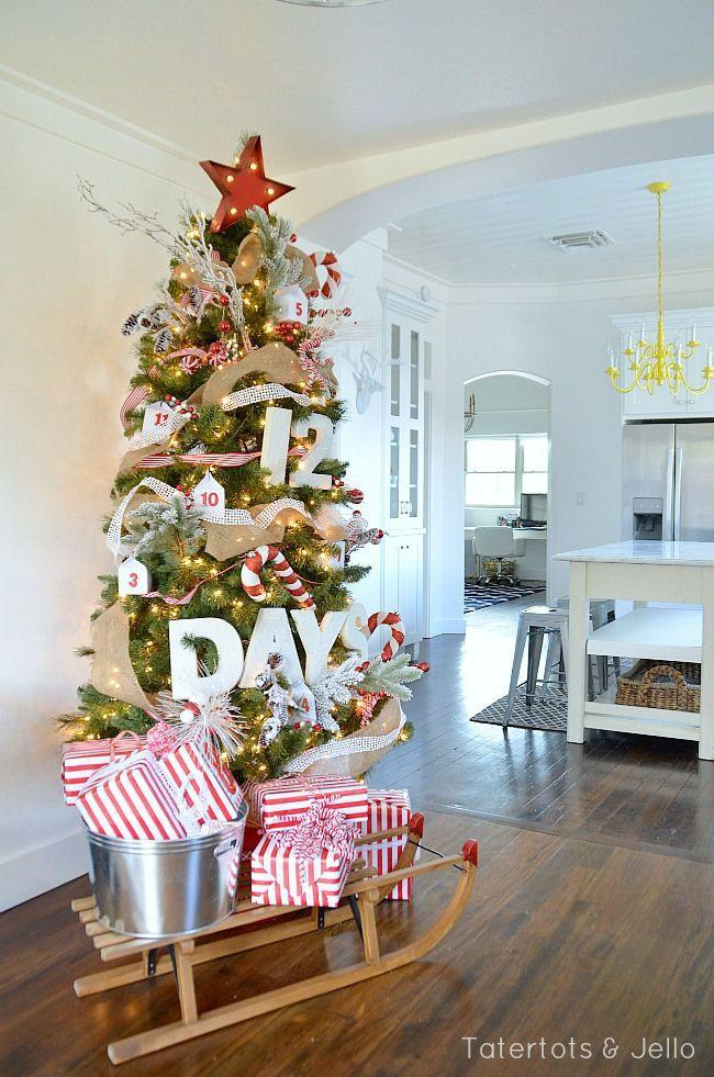 "<p>Typical advent calendars are fun, but counting down the days until Christmas by swapping out giant numbers in your tree is a much more grand way to do it.</p><p>See more at <a href=""http://tatertotsandjello.com/2014/11/12-days-christmas-advent-tree.html"" rel=""nofollow noopener"" target=""_blank"" data-ylk=""slk:Tatertots & Jello"" class=""link rapid-noclick-resp"">Tatertots & Jello</a>.</p><p><a class=""link rapid-noclick-resp"" href=""https://go.redirectingat.com?id=74968X1596630&url=https%3A%2F%2Fwww.etsy.com%2Flisting%2F483844608%2Fred-star-christmas-tree-topper&sref=https%3A%2F%2Fwww.housebeautiful.com%2Fentertaining%2Fholidays-celebrations%2Ftips%2Fg505%2Fchristmas-tree-decoration-ideas-pictures-1208%2F"" rel=""nofollow noopener"" target=""_blank"" data-ylk=""slk:SHOP TREE TOPPERS"">SHOP TREE TOPPERS</a> <em><strong>Red Star Tree Topper, $35</strong></em></p>"