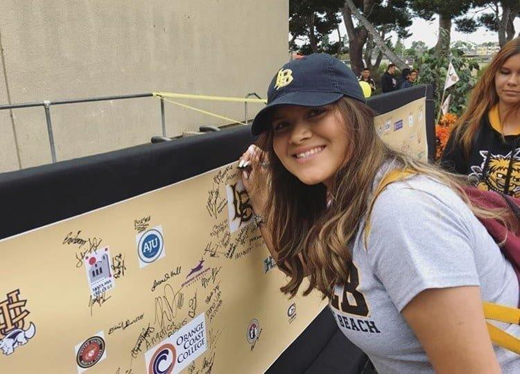 Karla decked out in Cal State Long Beach gear. (Karla Martinez)