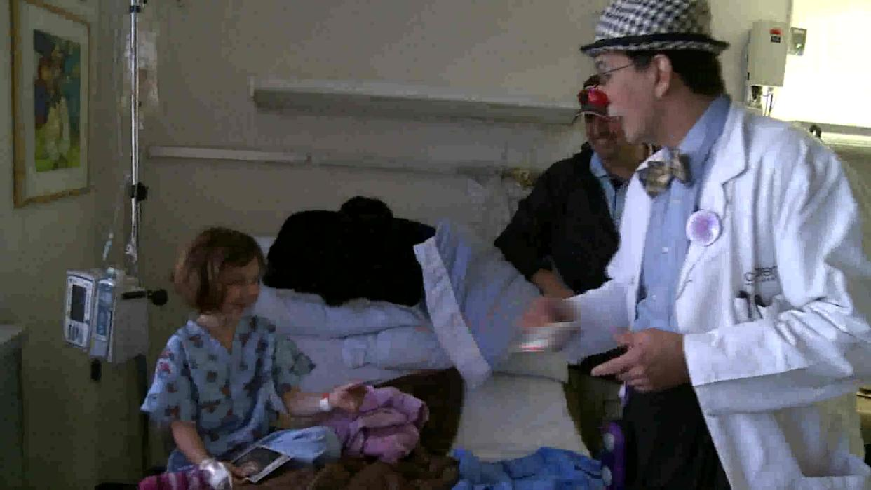 Clowns Bringing Smiles To Sick Children