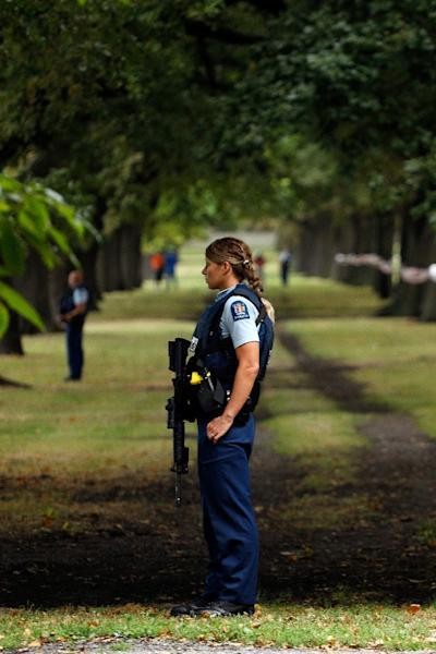 The threat level in New Zealand was raised to 'high' after the attack (AFP Photo/Tessa BURROWS)