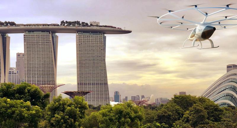 "Volocopter to build a 1.5 million-euro, 550-square meter ""Volo-Port"" in Singapore. (Photo/Illustration: Volocopter)"