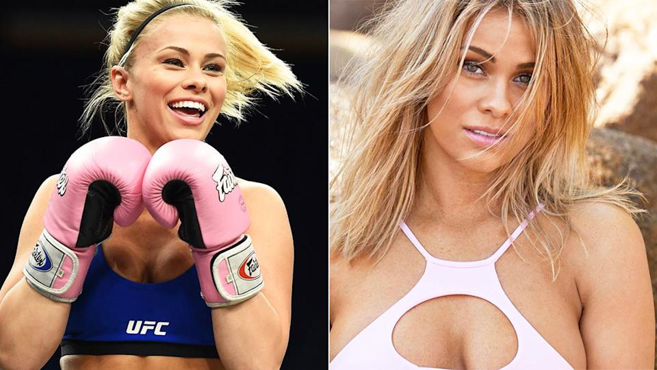 Pictured here, former UFC pin-up Paige VanZant poses for photos.