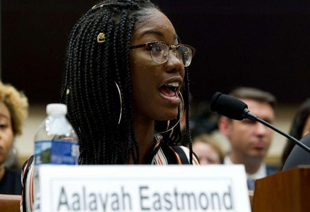 PHOTO: Marjory Stoneman Douglas High School senior Aalayah Eastmond testifies before the House Judiciary Committee during a hearing on gun violence, at Capitol Hill, Feb. 6, 2019. (Jose Luis Magana/AP)