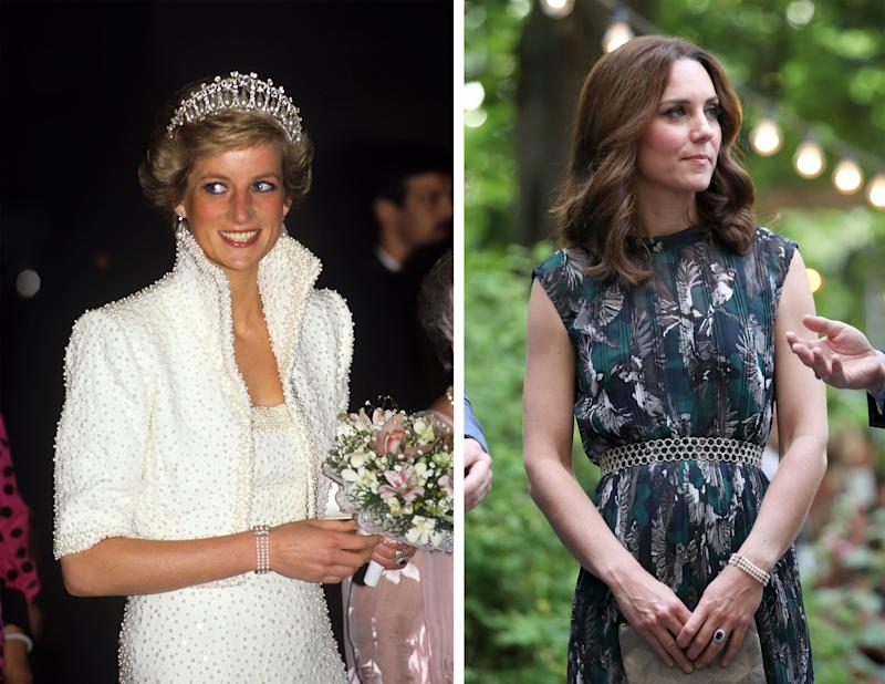 Kate wore Diana's bracelet during last month's royal tour.