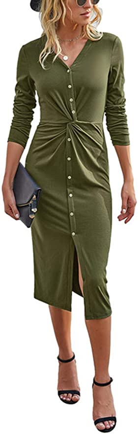 "<br><br><strong>Kirundo</strong> Button Down Tunic Midi Long Dress, $, available at <a href=""https://amzn.to/33uWOmC"" rel=""nofollow noopener"" target=""_blank"" data-ylk=""slk:Amazon"" class=""link rapid-noclick-resp"">Amazon</a>"