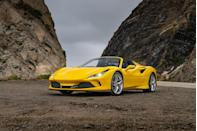 "<p>The supercar genre thrives on theatrical styling and performance, and the <a href=""https://www.caranddriver.com/ferrari/f8-tributo-spider"" rel=""nofollow noopener"" target=""_blank"" data-ylk=""slk:2021 Ferrari F8 Tributo and Spider"" class=""link rapid-noclick-resp"">2021 Ferrari F8 Tributo and Spider</a> exemplify both. <a href=""https://www.caranddriver.com/ferrari"" rel=""nofollow noopener"" target=""_blank"" data-ylk=""slk:Ferrari"" class=""link rapid-noclick-resp"">Ferrari</a> dresses each variant with exotic bodywork, and the Spider's removable top provides an extra visceral experience. Mounted behind the driver is a 710-hp twin-turbo V-8 that feeds the rear wheels through a paddle-shifted, seven-speed automatic transmission. Uncorking the F8's V-8 yields hair-raising acceleration and a thrilling soundtrack, but the latter is less exciting than the Italian automaker's best work. Still, the magicians in Maranello have assembled a charming chassis that bewitches the driver with amazing agility and tactility. These defining characteristics, combined with their unmistakable designs, make the 2021 F8 Tributo and Spider truly special machines.</p><p><a class=""link rapid-noclick-resp"" href=""https://www.caranddriver.com/ferrari/f8-tributo-spider"" rel=""nofollow noopener"" target=""_blank"" data-ylk=""slk:Review, Pricing, and Specs"">Review, Pricing, and Specs</a></p>"