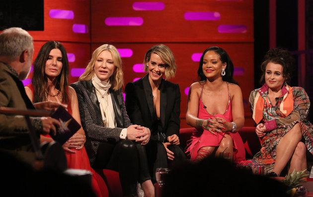 Sandra Bullock with her 'Ocean's 8' co-stars