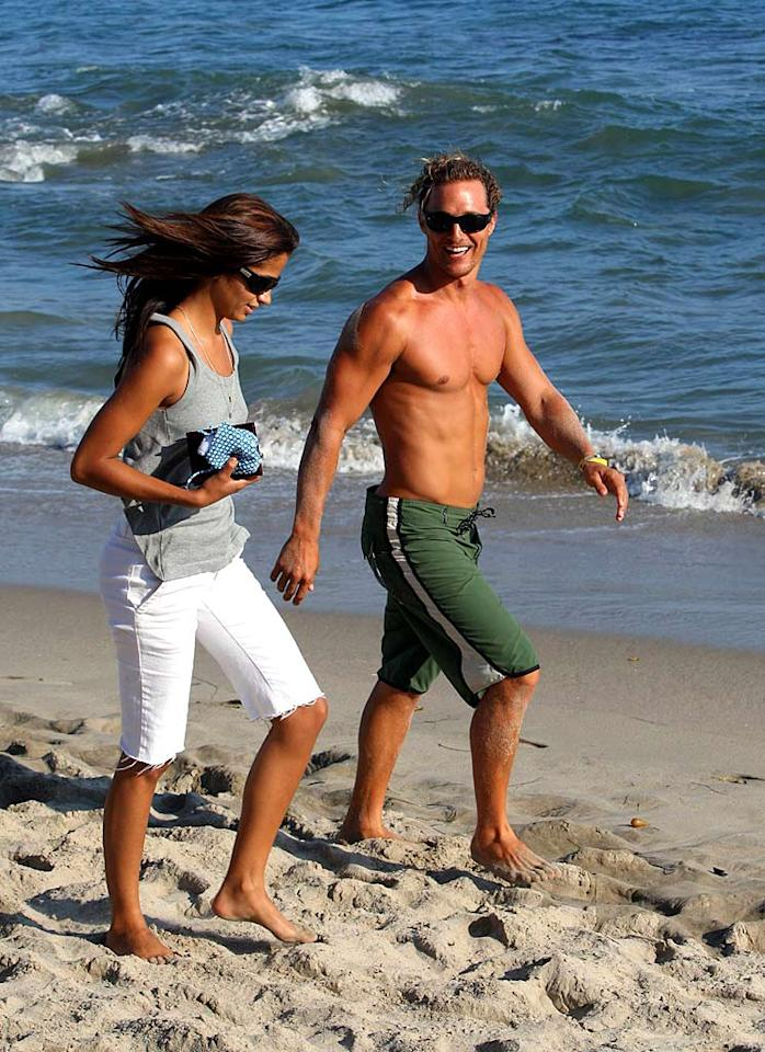 """It's no surprise that beach hunk Matthew McConaughey found love with Camila Alves, a Brazilian swimsuit model. Leo-Alpha/<a href=""""http://www.x17online.com"""" target=""""new"""">X17 Online</a> - July 29, 2007"""