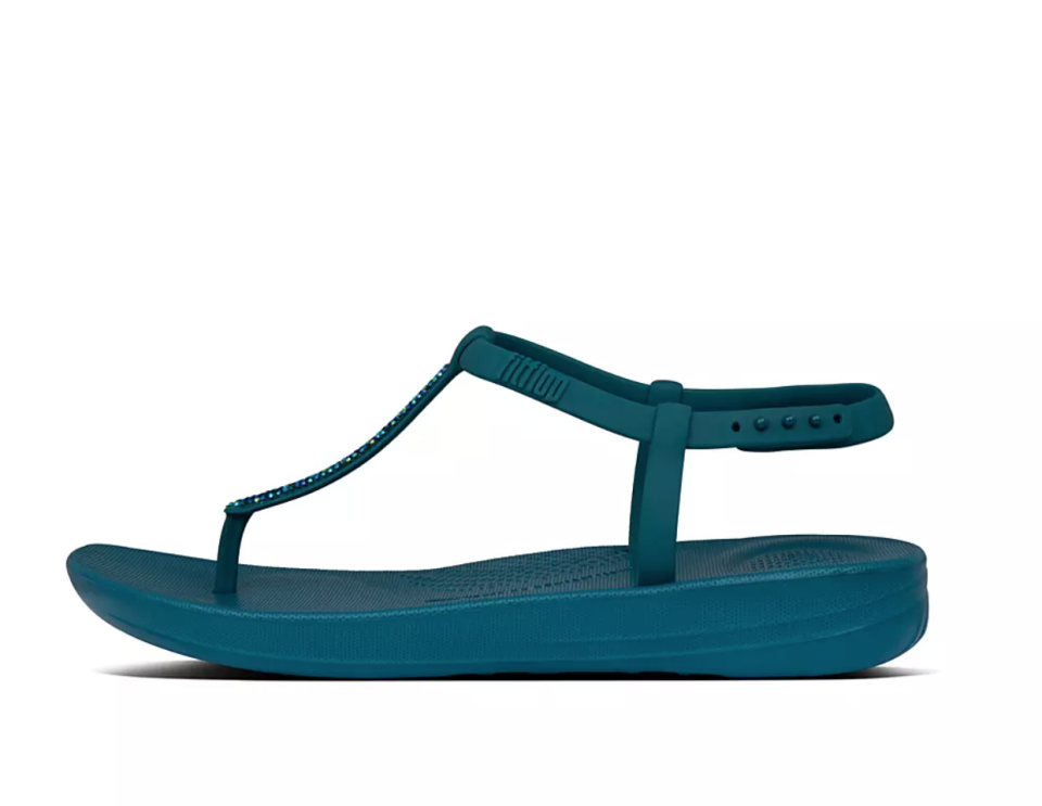 IQushion Splash Sparkle Back-Strap Sandals. Image via Fitflop.