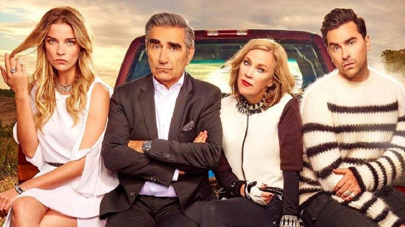The Rose family of Schitt's Creek. Photo: Netflix.